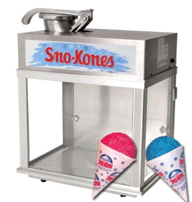 Where to find Sno-Kone - Machine in Waterloo