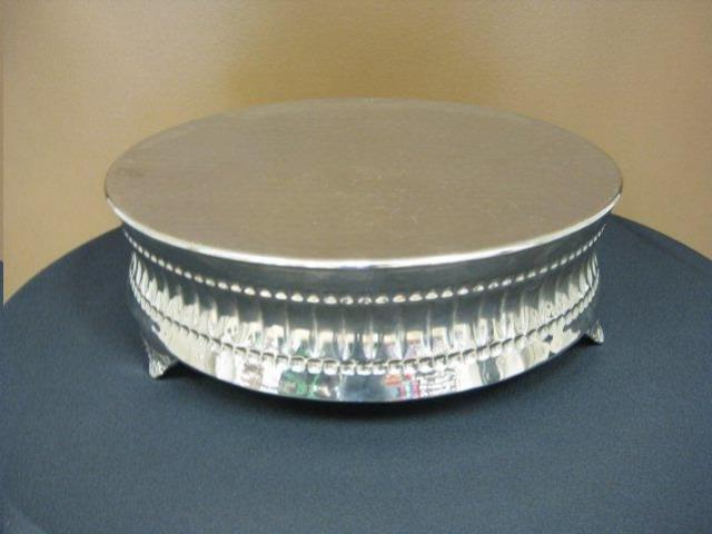 Where to find Cake Stand - Silver Round 18 in Waterloo